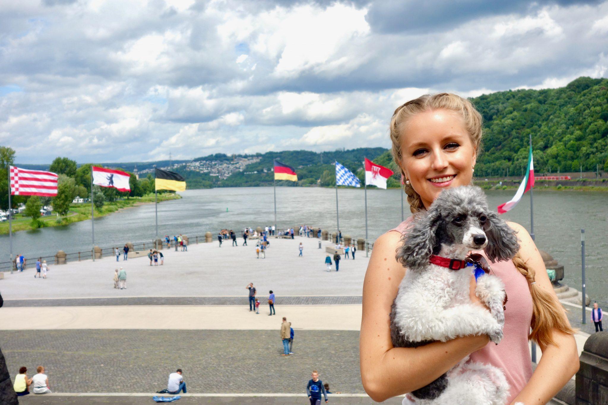 Koblenz: Das Deutsches Eck, an dem 2 Flüsse zusammenfließen!