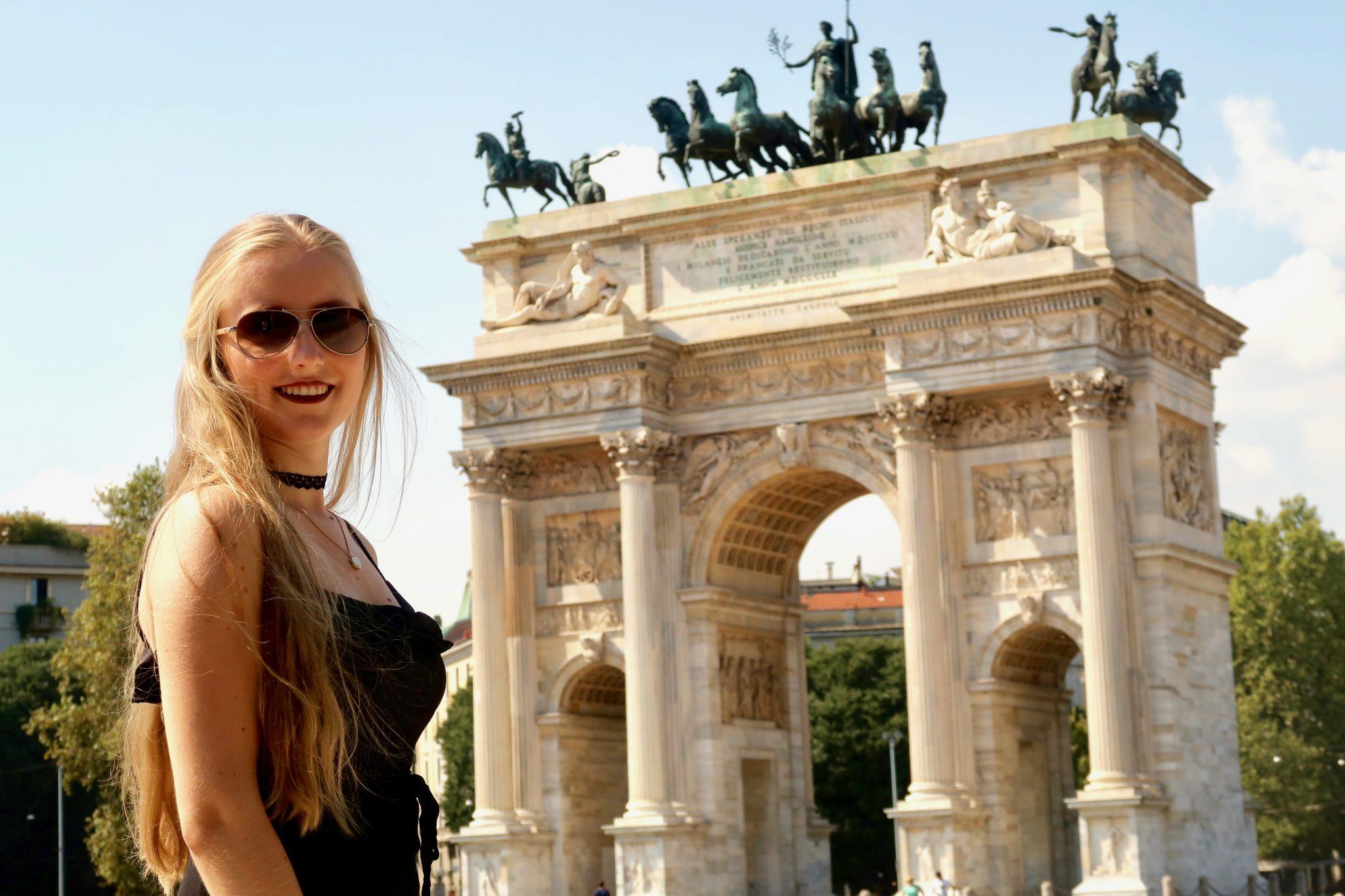 Mailand: L'arco della pace / Arch of Peace (ähnelt irgendwie dem Brandenburger Tor in Berlin, oder?