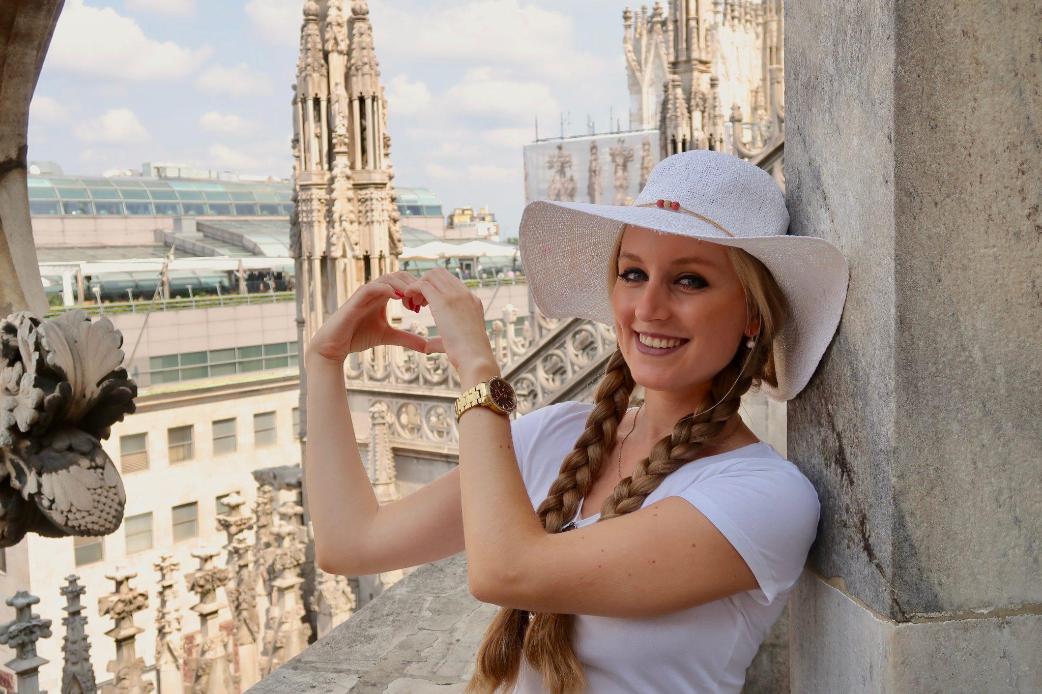 Mailand: vom Dach des Doms ist es wunderschön, ich liebe diese Aussicht!