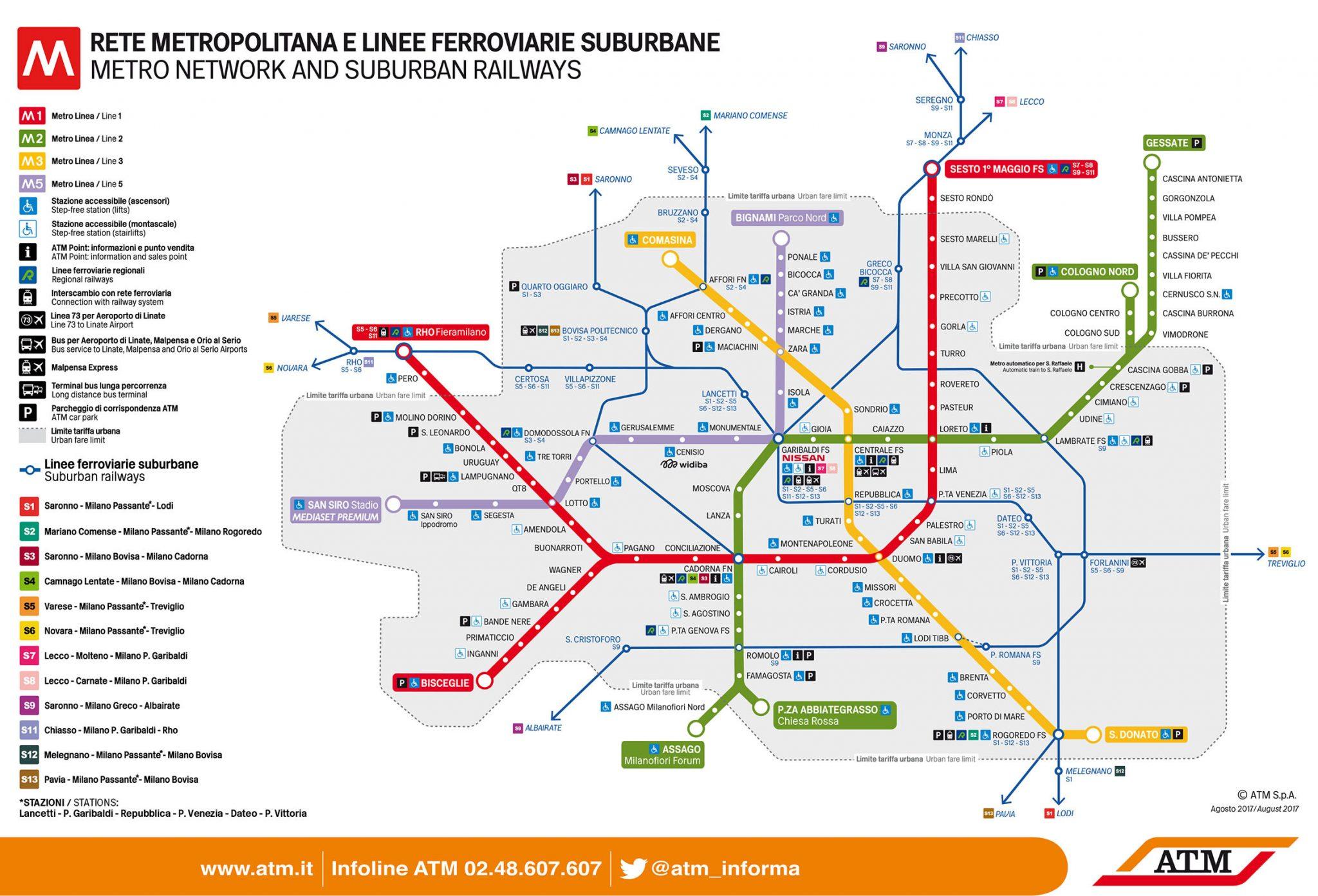 Mailand: Metro Plan ATM