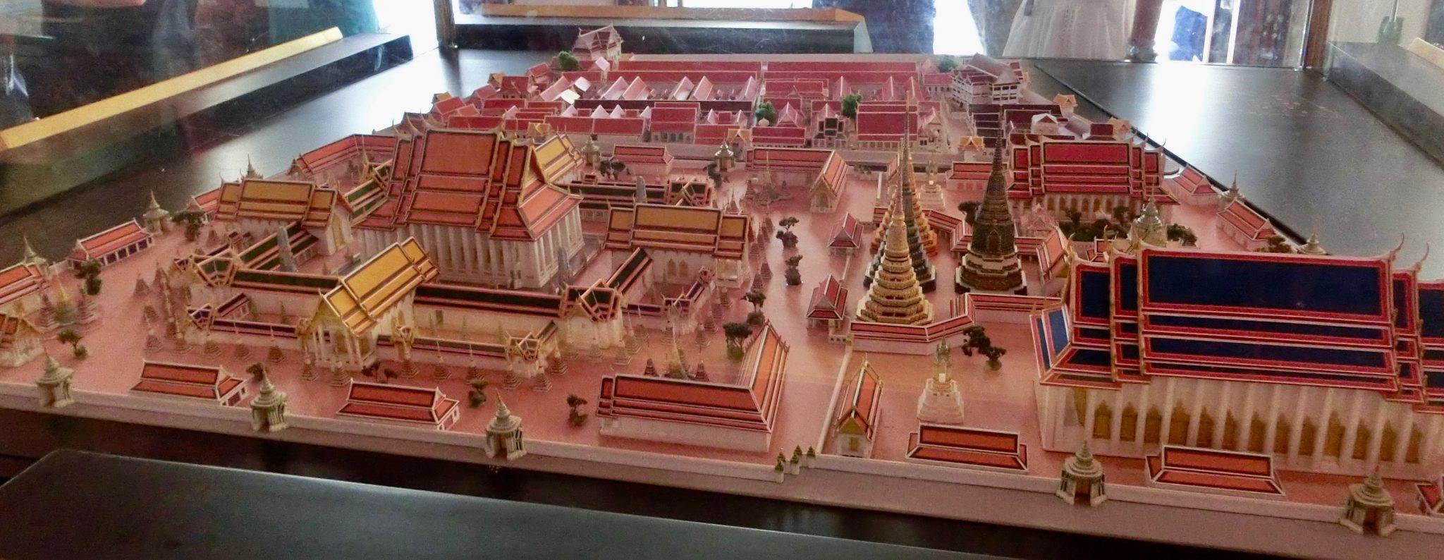 """Thailand, Bangkok: Wat Pho (Modell des Geländes), der vollständige Name ist """"Wat Phra Chettuphon Wimonmangkhlaram Ratchaworamahawihan"""""""