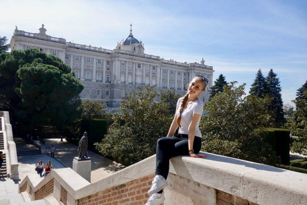 Madrid: Palacio Real beim Campo del Moro