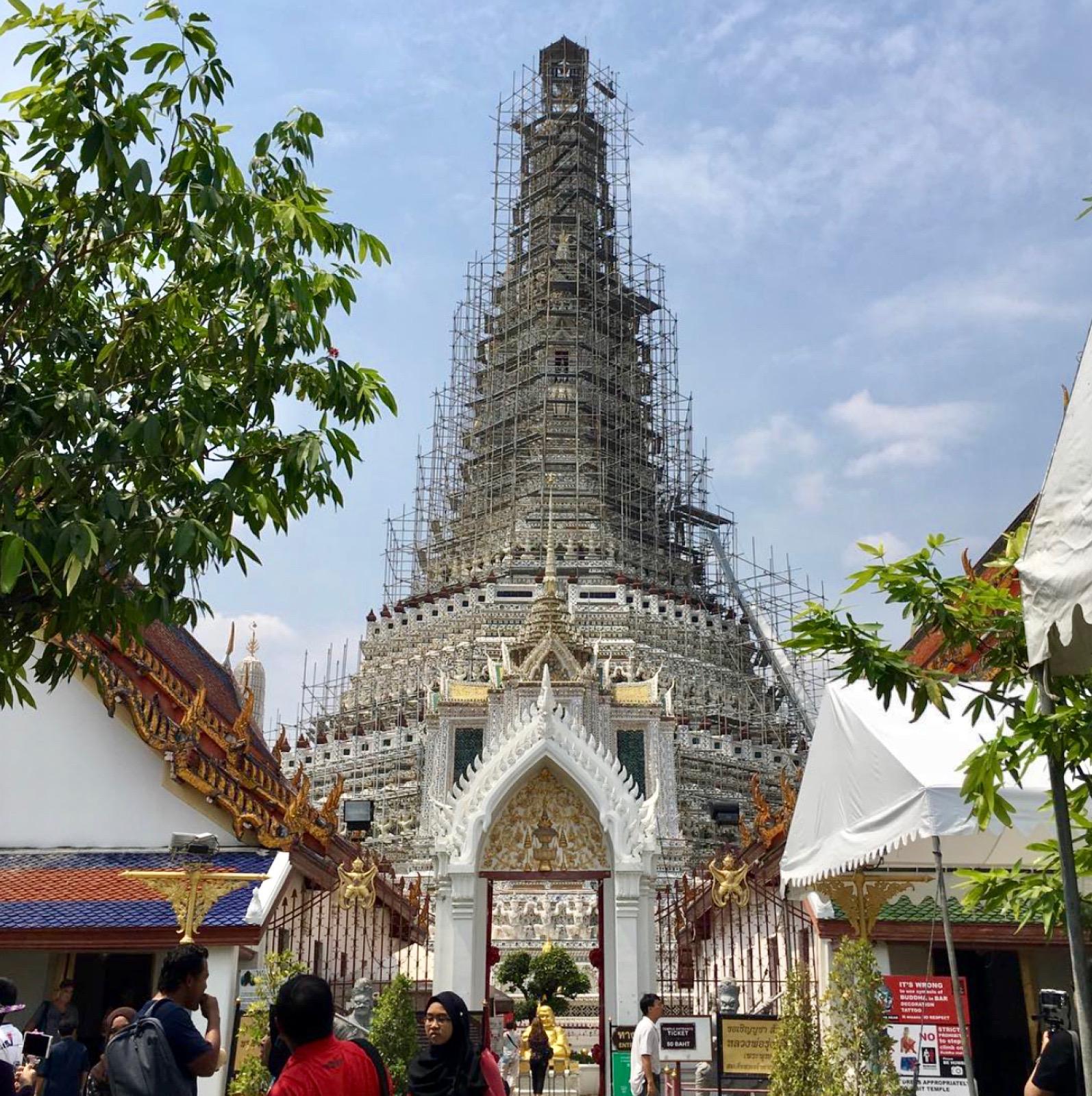Thailand, Bangkok: Wat Arun Tempel, der volle Name ist: Wat Arun Ratchawararam Ratchaworamahaviharn