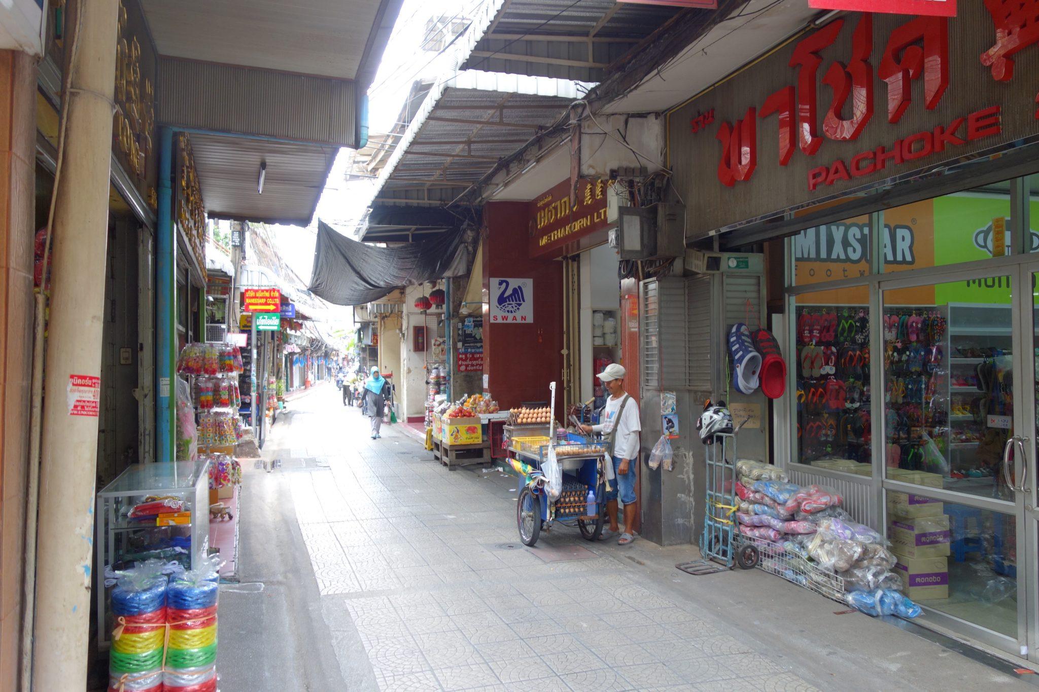 Thailand, Bangkok, Chinatown: Enge Wege sind hier normal, obwohl dieser noch ziemlich breit ist