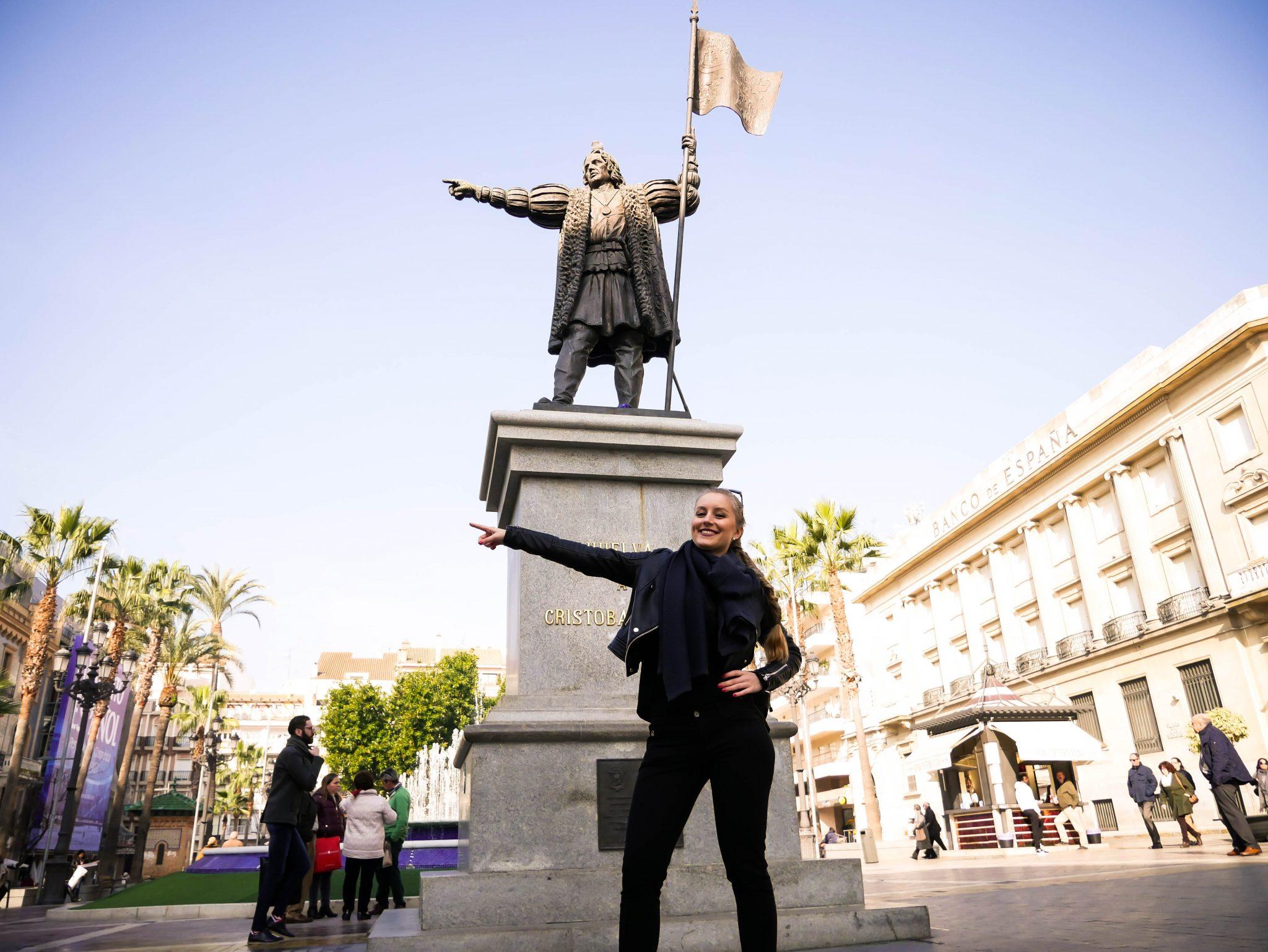 """Huelva: Von dort aus wollte Christoph Kolumbus nach Indien fahren und ist dann in der """"neuen Welt"""", Amerika, angekommen."""