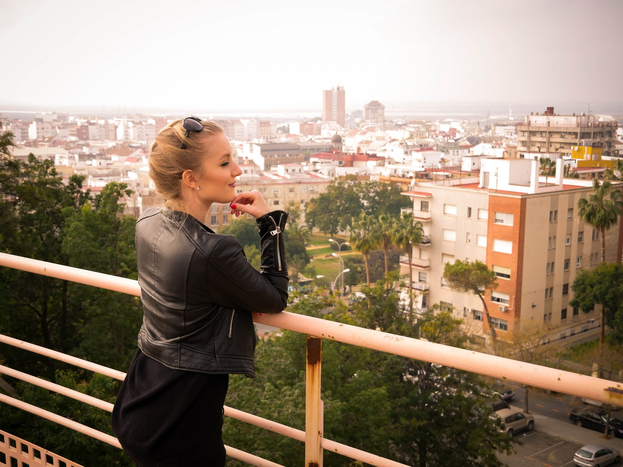 Huelva, Alonso sanchez Park: Von dort oben hast du höchstwahrscheinlich eine der besten Aussichten über die Stadt Huelva!