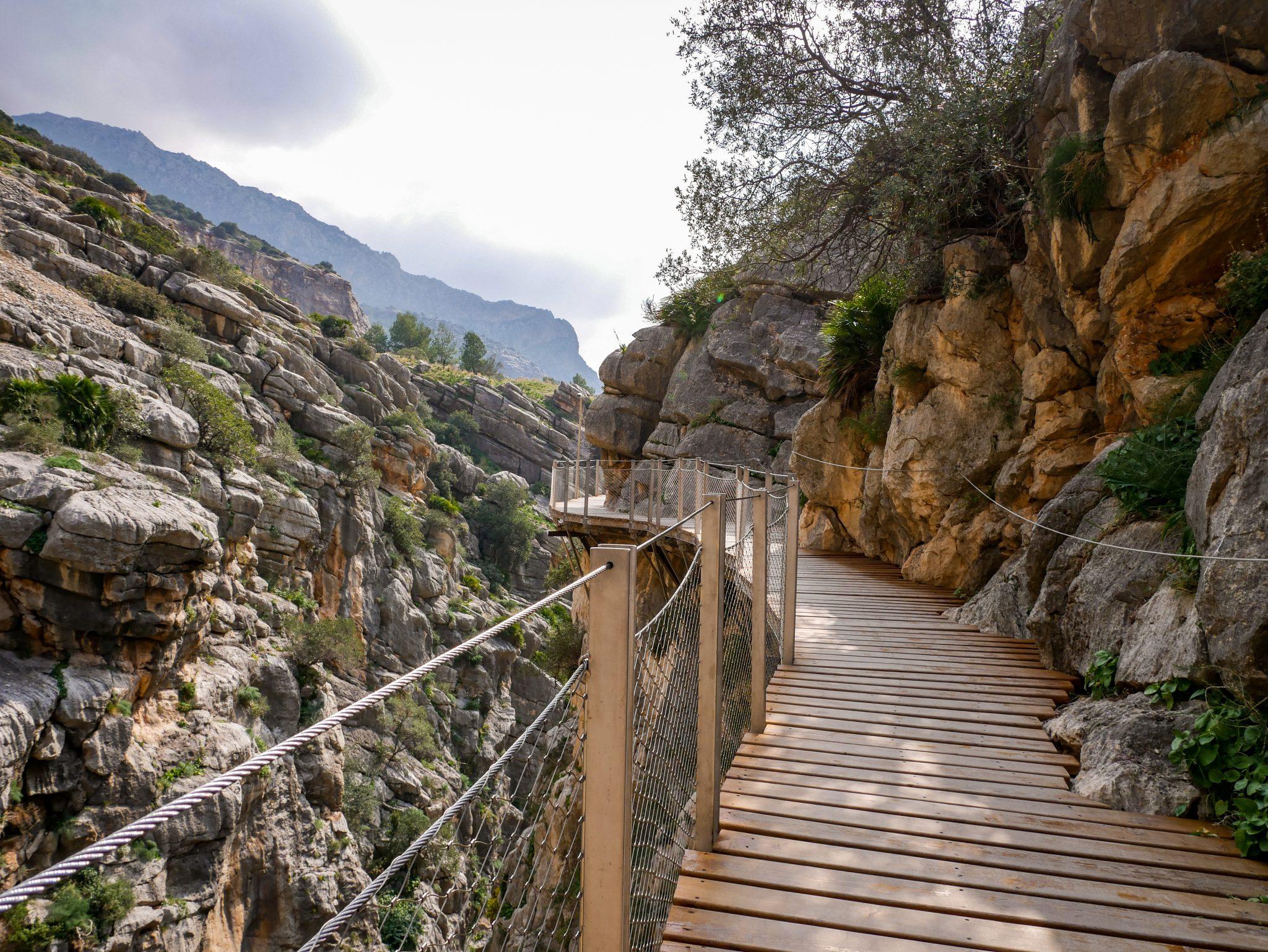 Caminito del Rey, Andalusien, Spanien: Die Wege sind sehr gut ausgebaut worden.