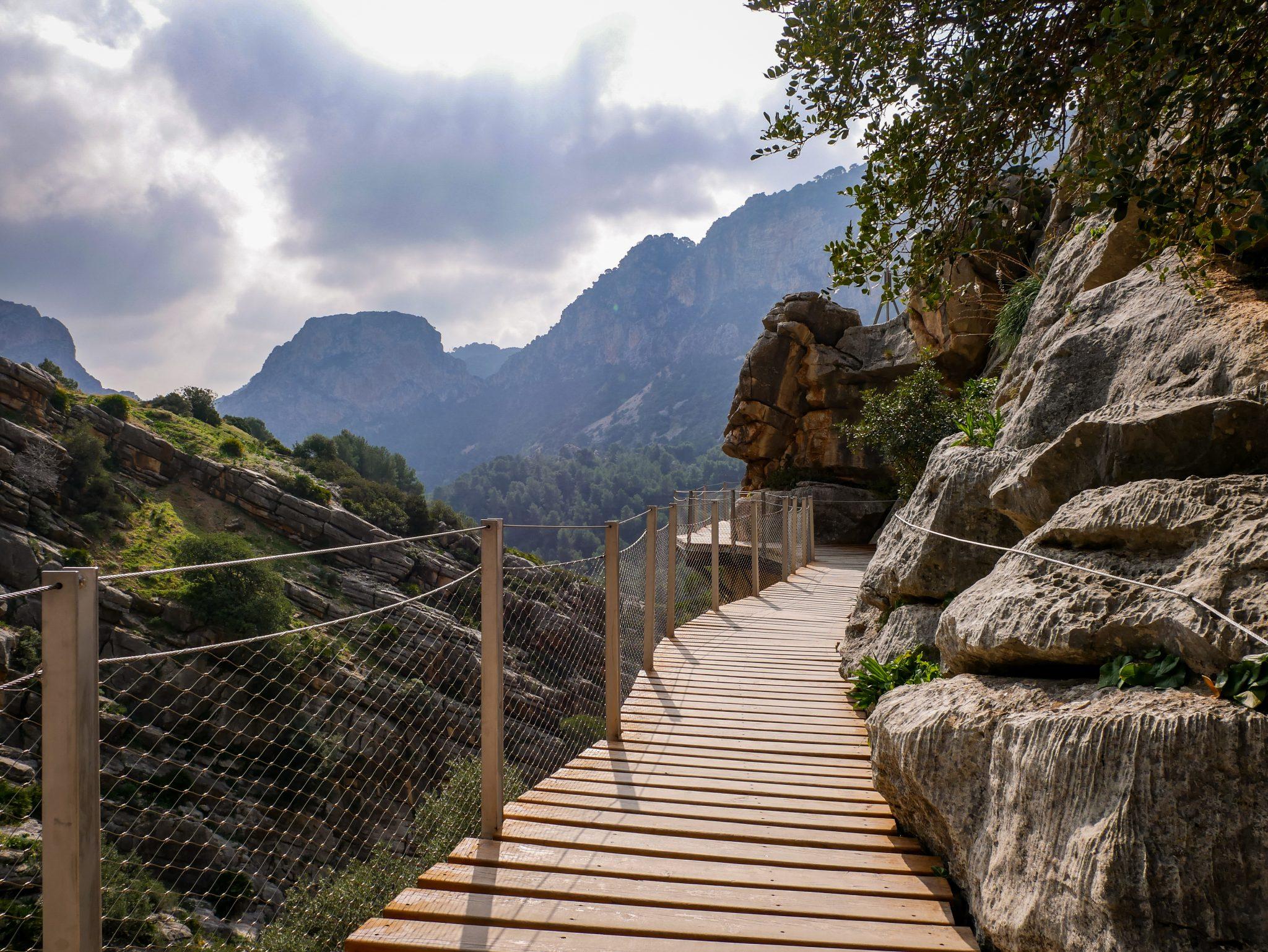Caminito del Rey: So sieht fast der gesamte Weg aus, sehr gut und umfangreich renoviert!