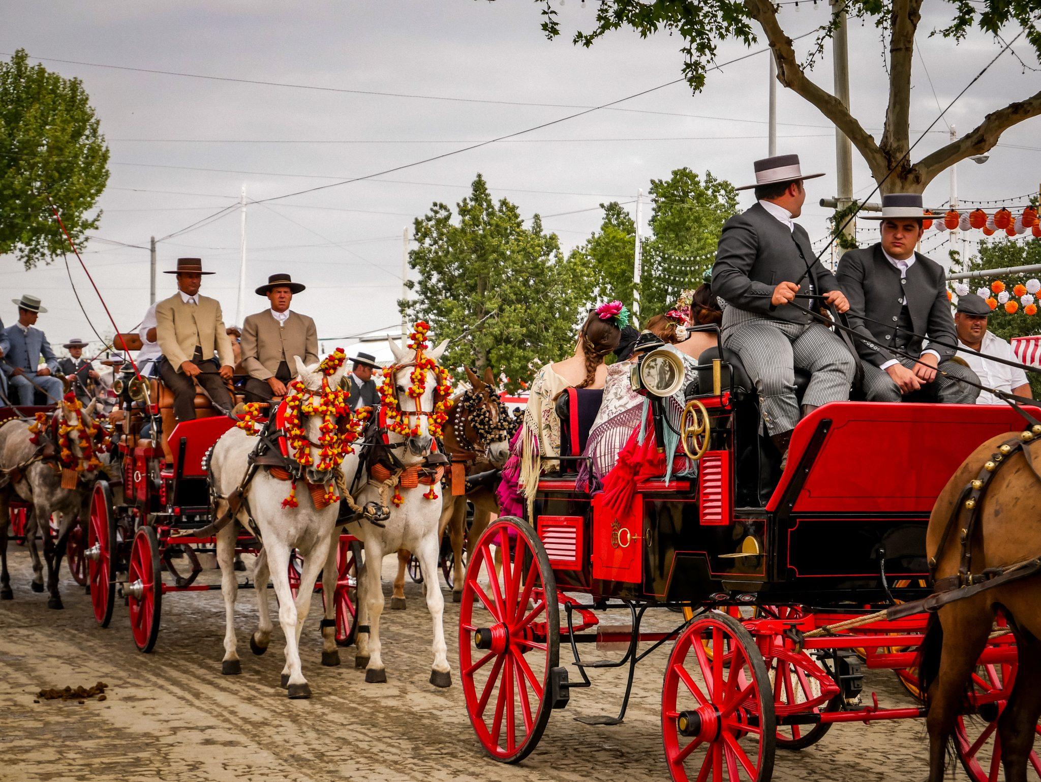 Der Paseo de Caballos ist auf der Feria de Abril in Sevilla sehr beliebt.