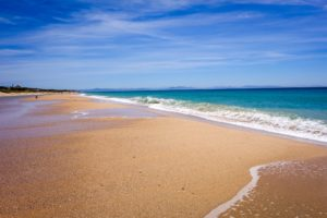 Einer der schönsten Strände Spaniens: Playa Bolonia in der Region Tarifa / Andalusien