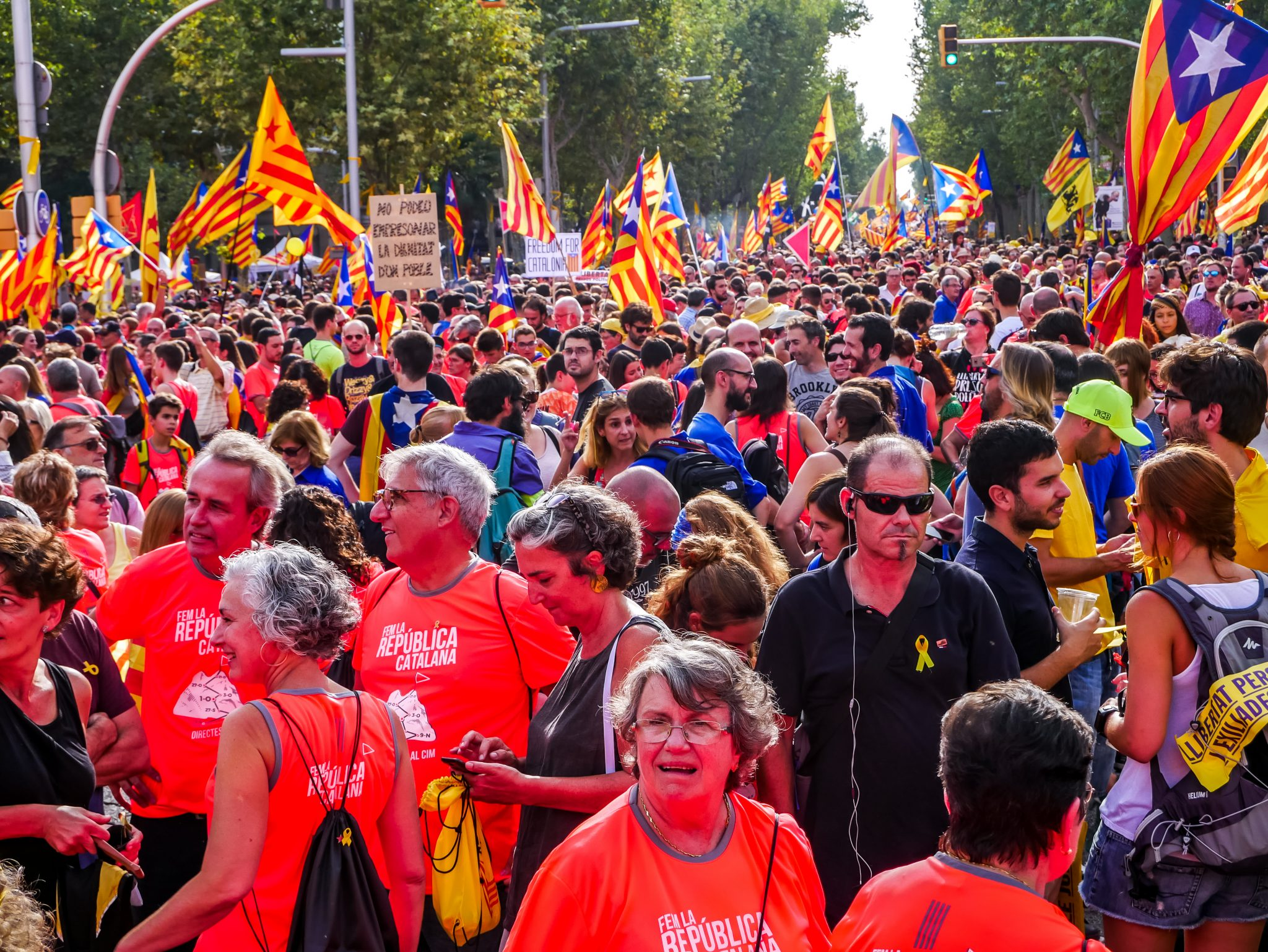 In Barcelona wird einem niemals langweilig... Besonders nicht am Día de Cataluña (Feiertag in Katalonien)