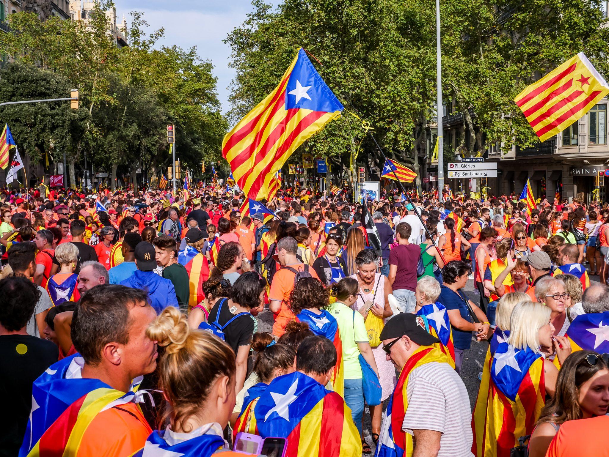 Insgesamt waren ungefähr eine Millionen Menschen während des Día de Cataluña auf den Straßen von Barcelona.