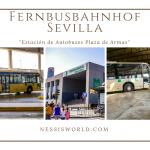 """Fernbusbahnhof Sevilla, """"Estación de Autobuses Plaza de Armas"""""""