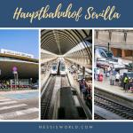 """Hauptbahnhof Sevilla, """"Estación de los trenes Santa Justa"""""""