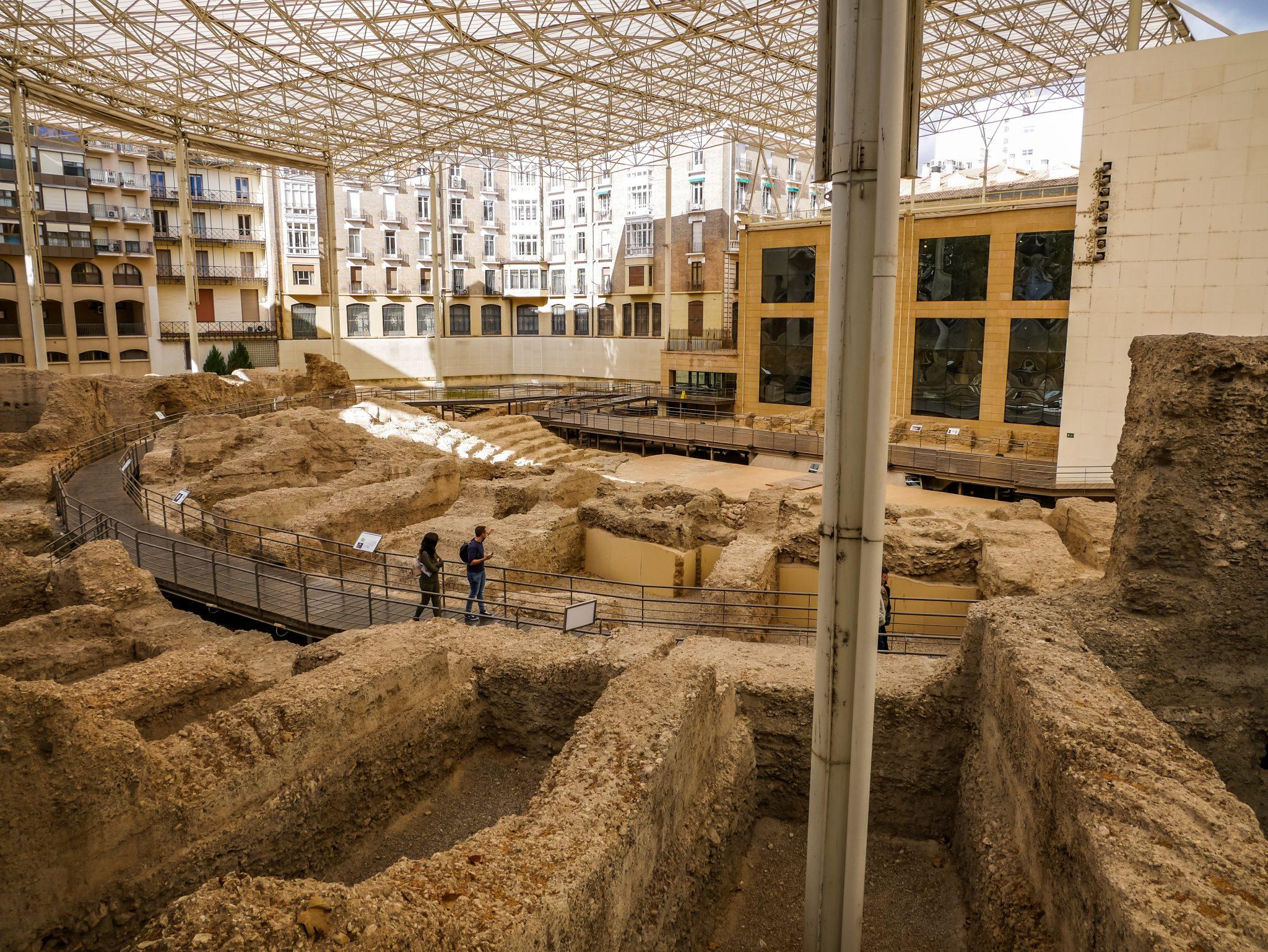 Die Römer haben in Saragossa ihre Spuren hinterlassen...