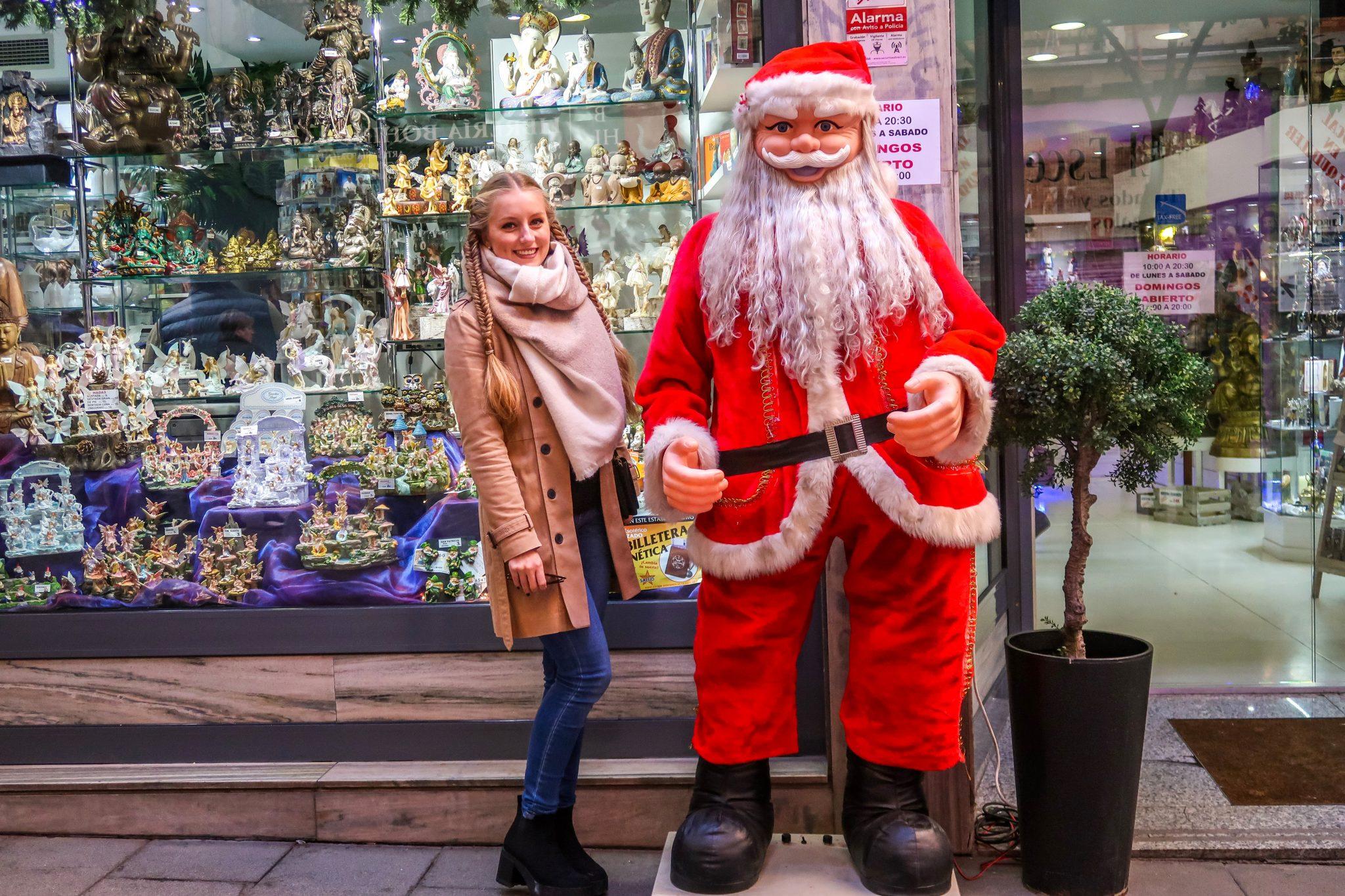 Ich habe den Weihnachtsmann in Madrid gefunden!