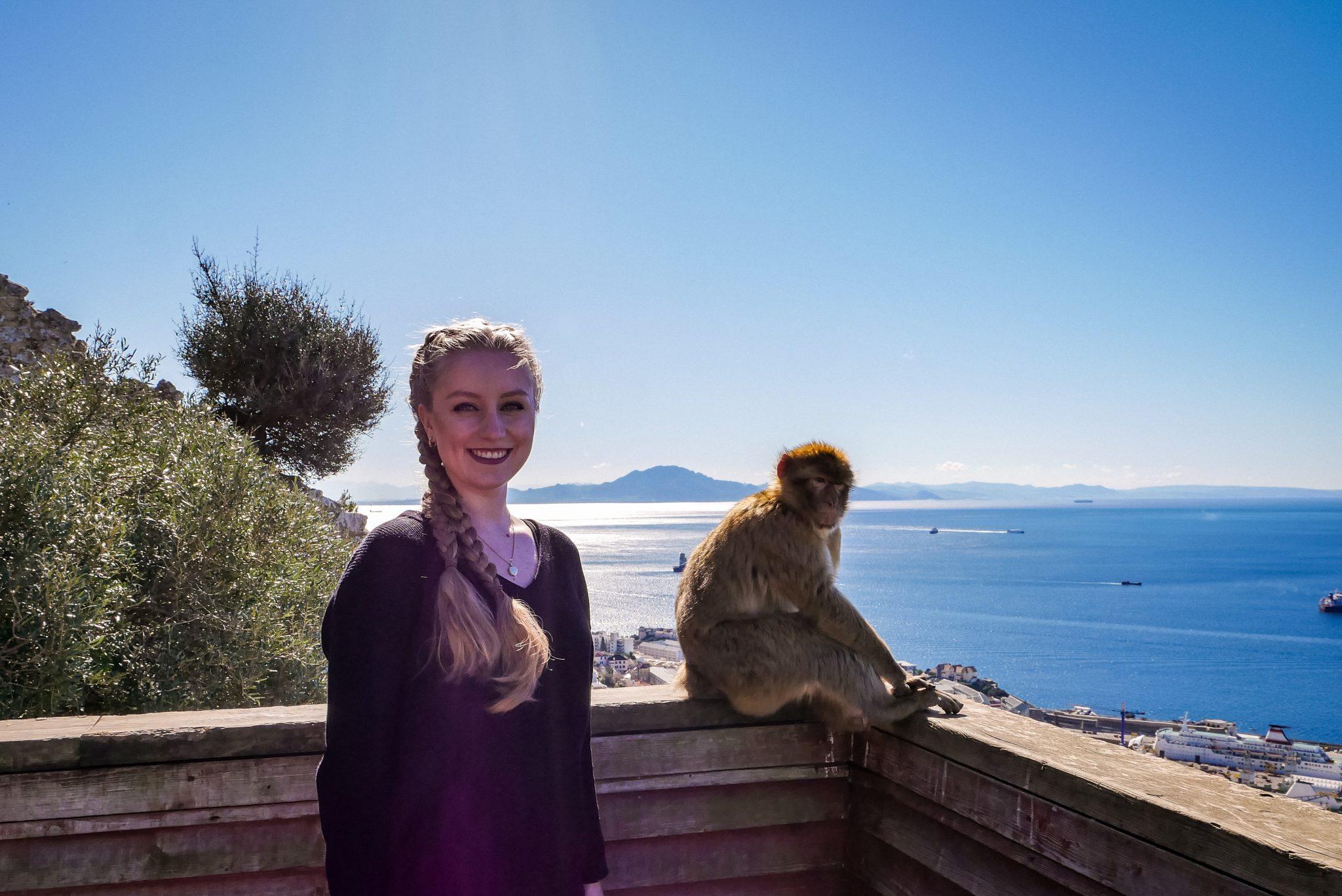 Nicht nur die Affen sind dort spektakulär, sondern ebenfalls der Blick auf Nordafrika!
