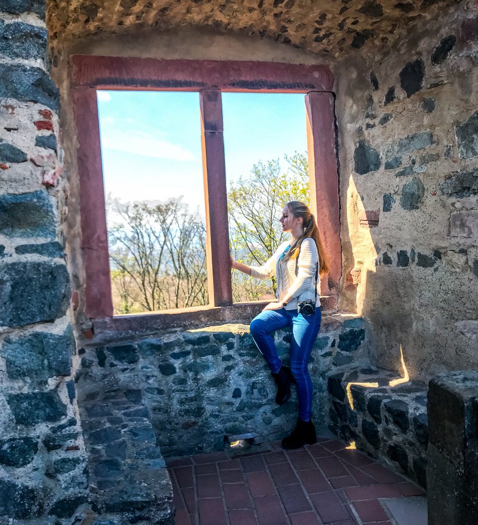 Aus dem Fenster der Burg Frankenstein könnte ich ewig hinausblicken.