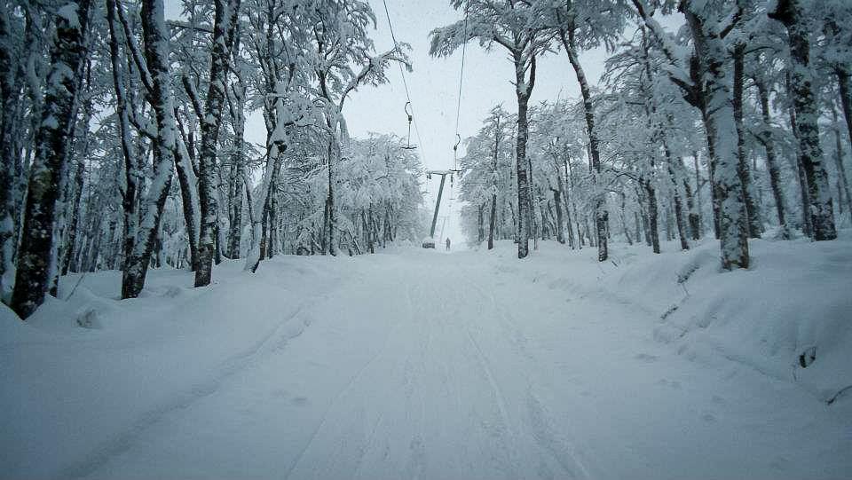 So sieht es übrigens aus, wenn man mutig genug ist, in Antillanca den Skilift hinaufzufahren.
