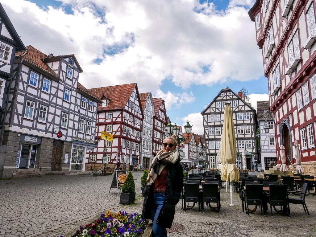 Die mittelalterliche Stadt Melsungen hat richtig schöne Fachwerkhäuser.