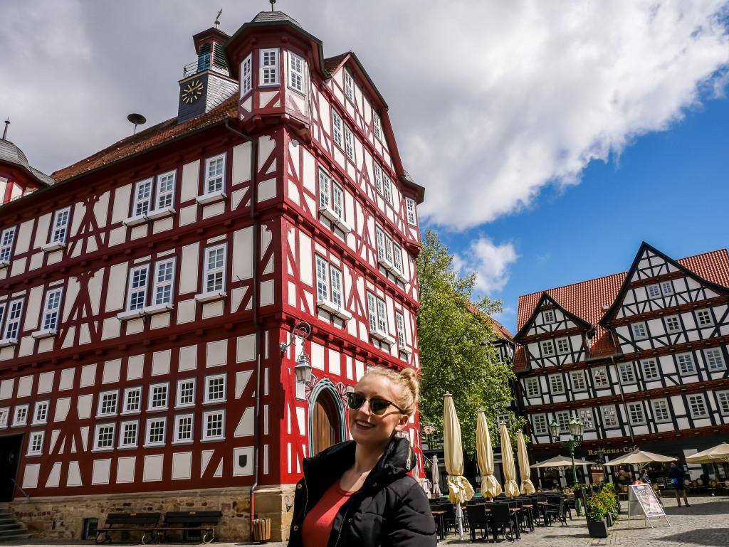 Ich habe mich richtig in das Rathaus von Melsungen verliebt.