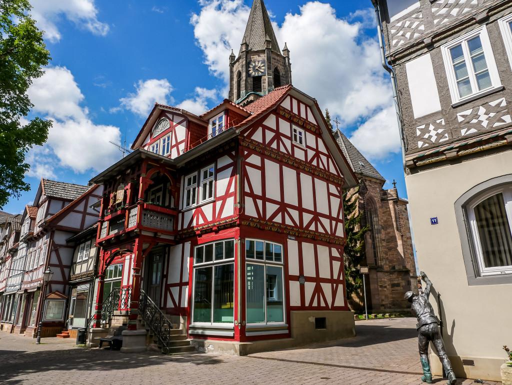 Die vielen Fachwerkhäuser in Rotenburg an der Fulda haben mir sehr gut gefallen.