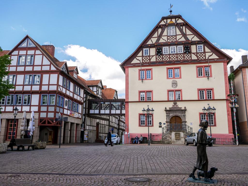 Dies ist das Rathaus von Rotenburg an der Fulda.