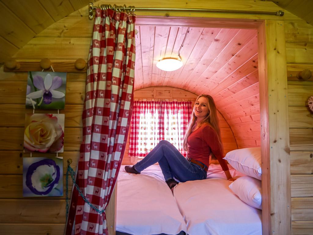 ... und das Bettchen im Schlaffass war auch sehr viel gemütlicher als gedacht.