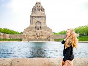 Beim Völkerschlachtdenkmal hätte ich mich ewig aufhalten können, ihr habt von oben eine richtig tolle Aussicht auf Leipzig.