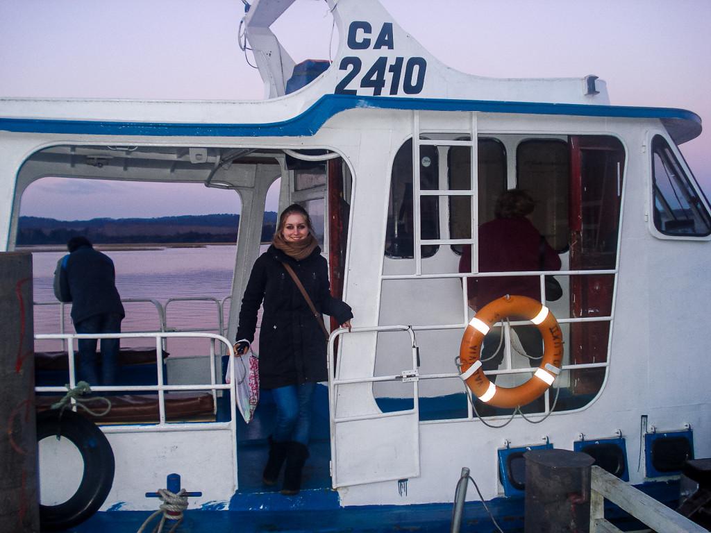 Vom Boot aus haben wir einen tollen Blick auf Valdivia gehabt und sind in ein benachbartes Dorf gefahren. Die Tour dorthin hat mir sehr gut gefallen.