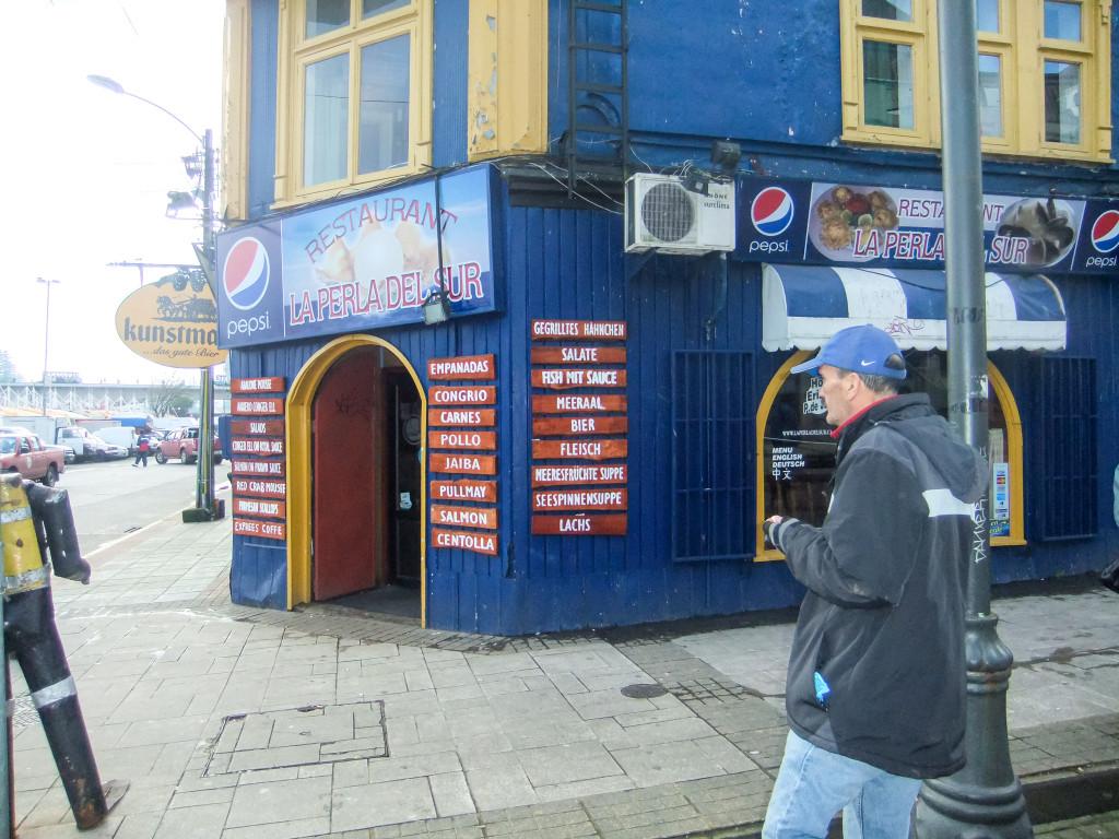 Auch in Valdivia haben wir die Spuren der deutschen Einwanderer gefunden, wie hier ein deutsches Restaurant.