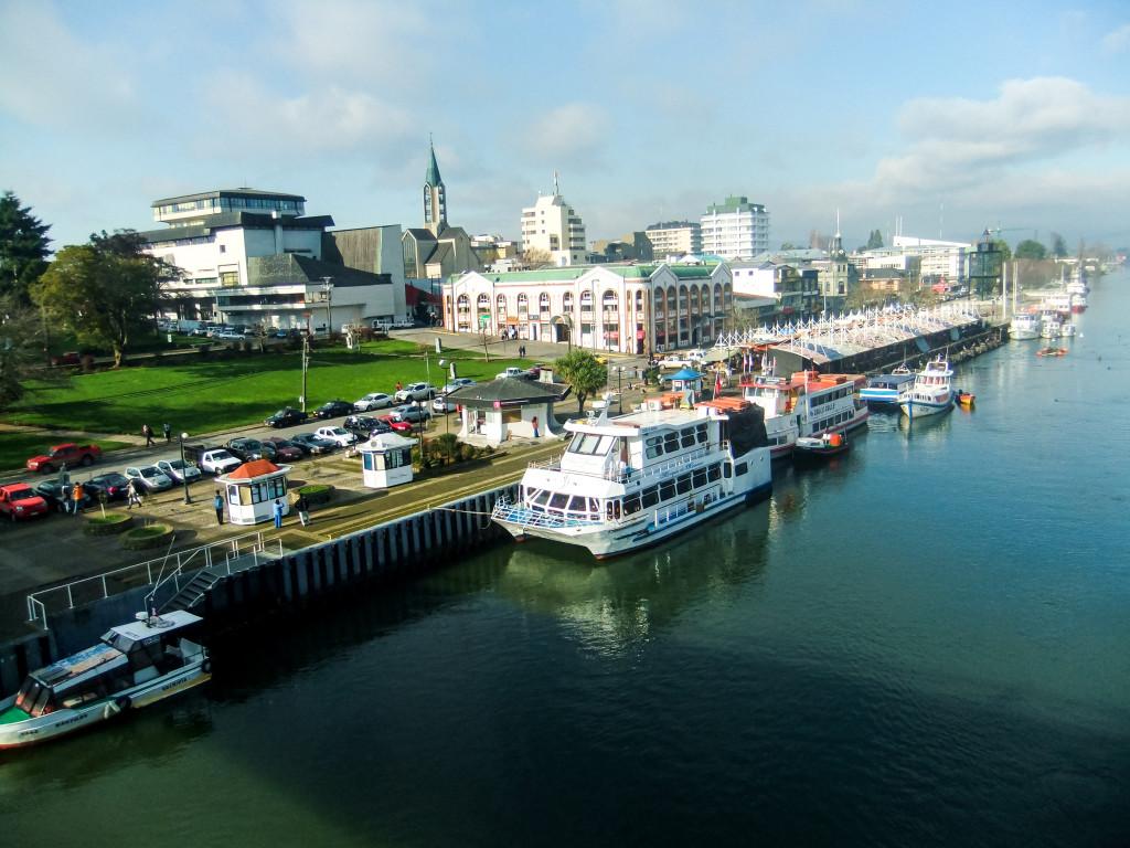 Hier habt ihr nochmal einen schönen Panoramablick auf Valdivia.