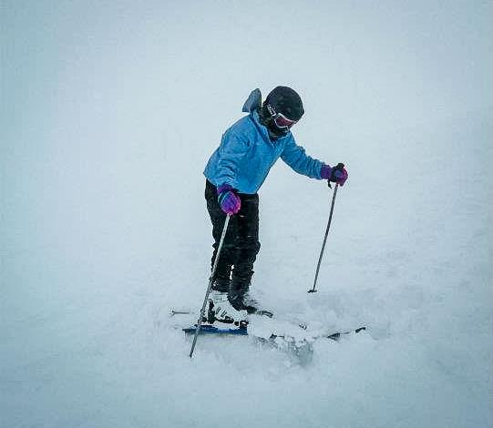 Da es einfach viel zu viel Schnee war, bin ich ständig stecken geblieben... Gar nicht so einfach aus dem vielen Schnee wieder raus zu kommen...