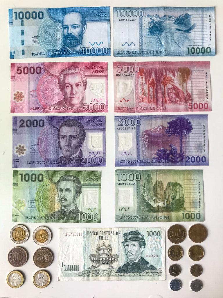 So sehen die chilenischen Geldscheine aus.