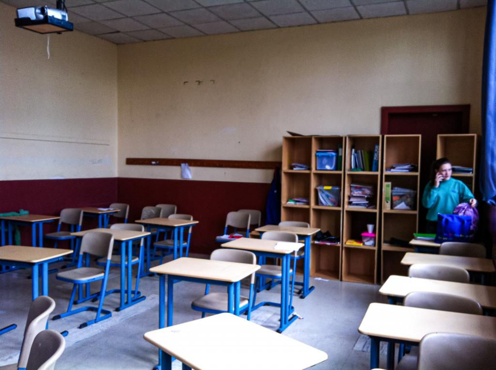 So sehen die Klassenräume der Deutschen Schule in Osorno aus. Die Klassenräume waren besonders in der ersten Woche suuuuper kalt!