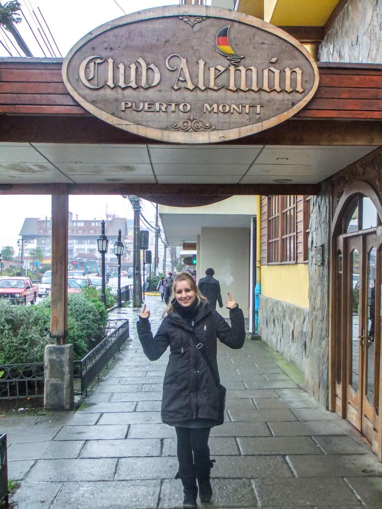 Auch in Puerto Montt gibt es Spuren von deutschen Einwanderern, wie hier der Club Alemán.