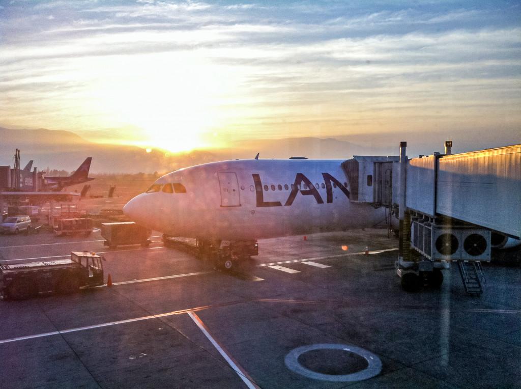 Mein Abenteuer hat begonnen. Der erste Flug war mit LAN nach Madrid.