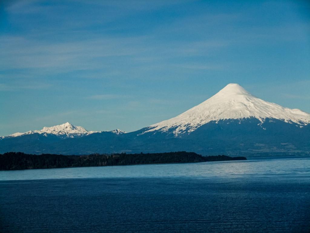 Den Vulkan Osorno kann man Von Puerto Octay aus sehr gut erkennen.