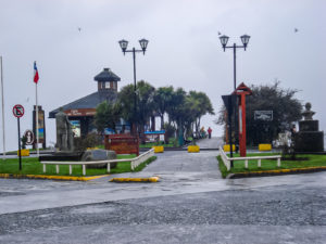 Rein theoretisch hätte man vom Ufer aus einen herrlichen Blick auf den Vulkan Osorno...