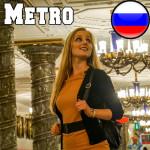 Die schönste und tiefste Metro-Station der Welt in Sankt Petersburg, Russland