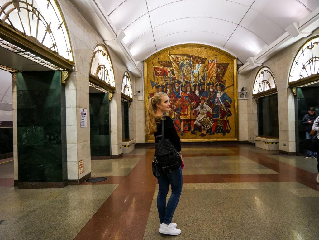 """Die Metro-Station """"Admiralteyskaya (Адмиралте́йская)"""" ist die tiefste Metro-Station, in der ich je war."""