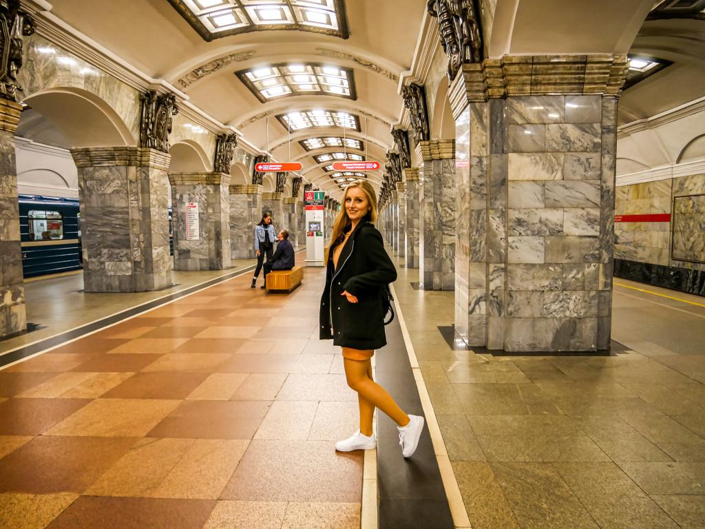 """Die Metro-Station """"Kirovsky Zavod"""" in Sankt Petersburg hat mir auch gut gefallen."""