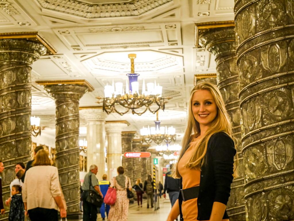 Ich bin immer noch total begeistert von der Metro-Station Avtovo (А́втово) in Sankt Petersburg.