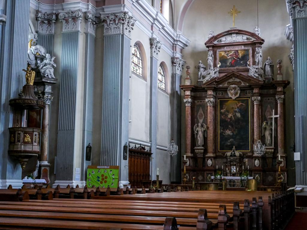 Das ist die Stadtpfarrkirche von Schärding.