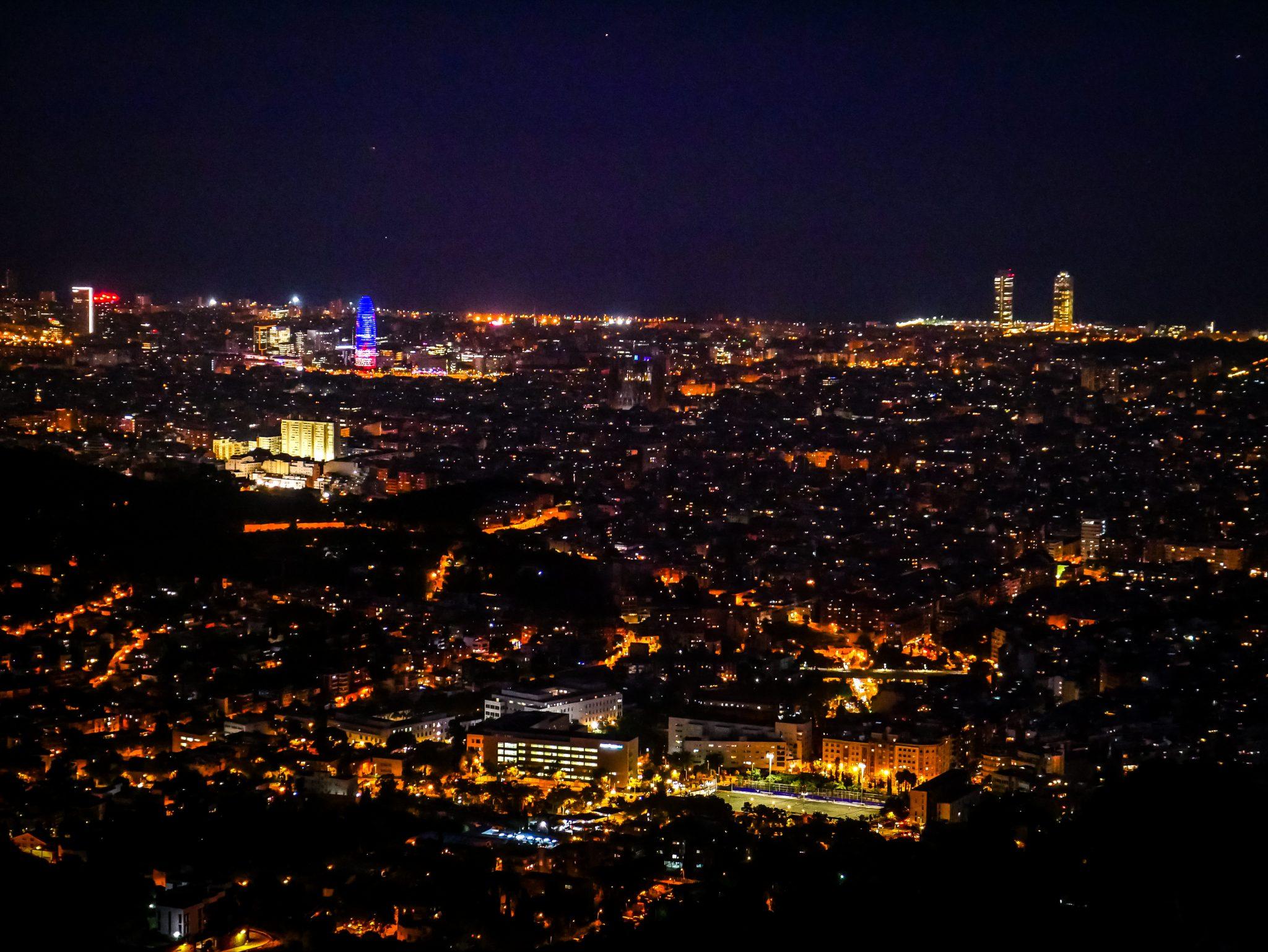 Die Aussicht vom Tibidabo auf Barcelona ist herrlich!