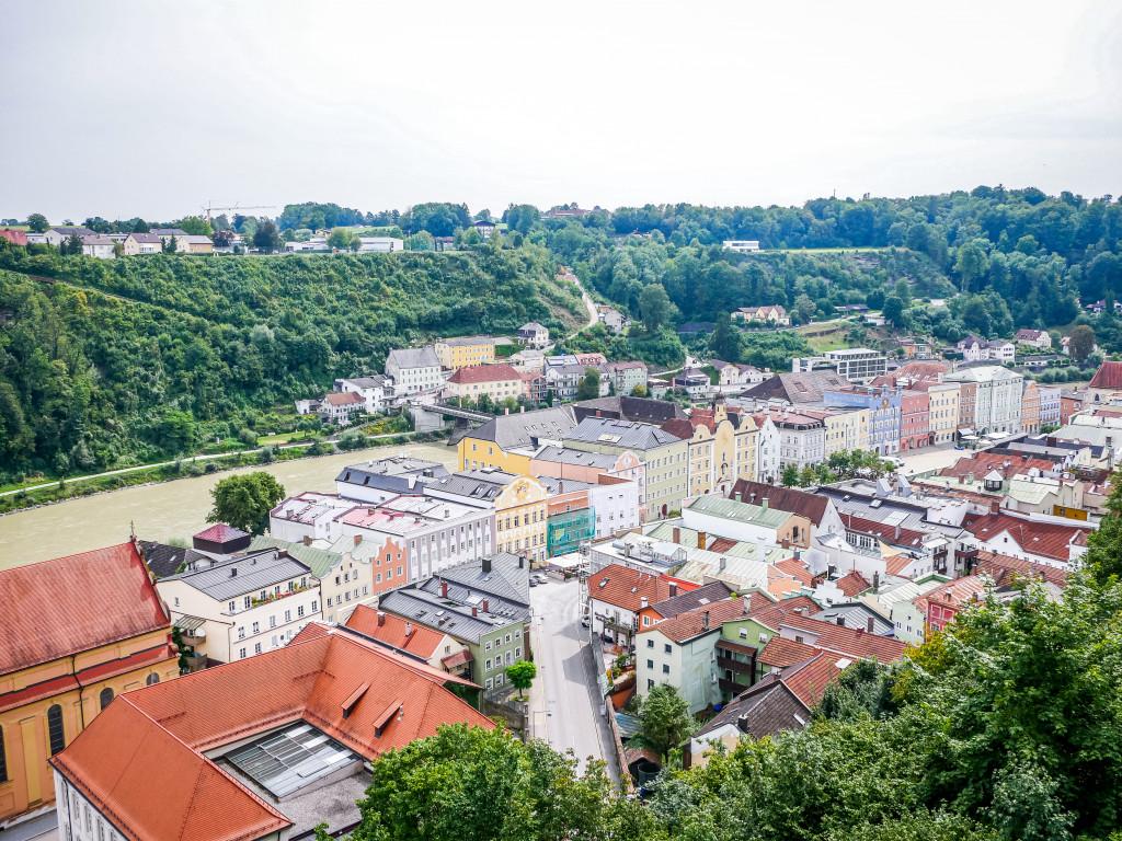 Vom Gärtnerturm (Aussichtsturm) hat man einen tollen Blick auf die Stadt Burghausen.