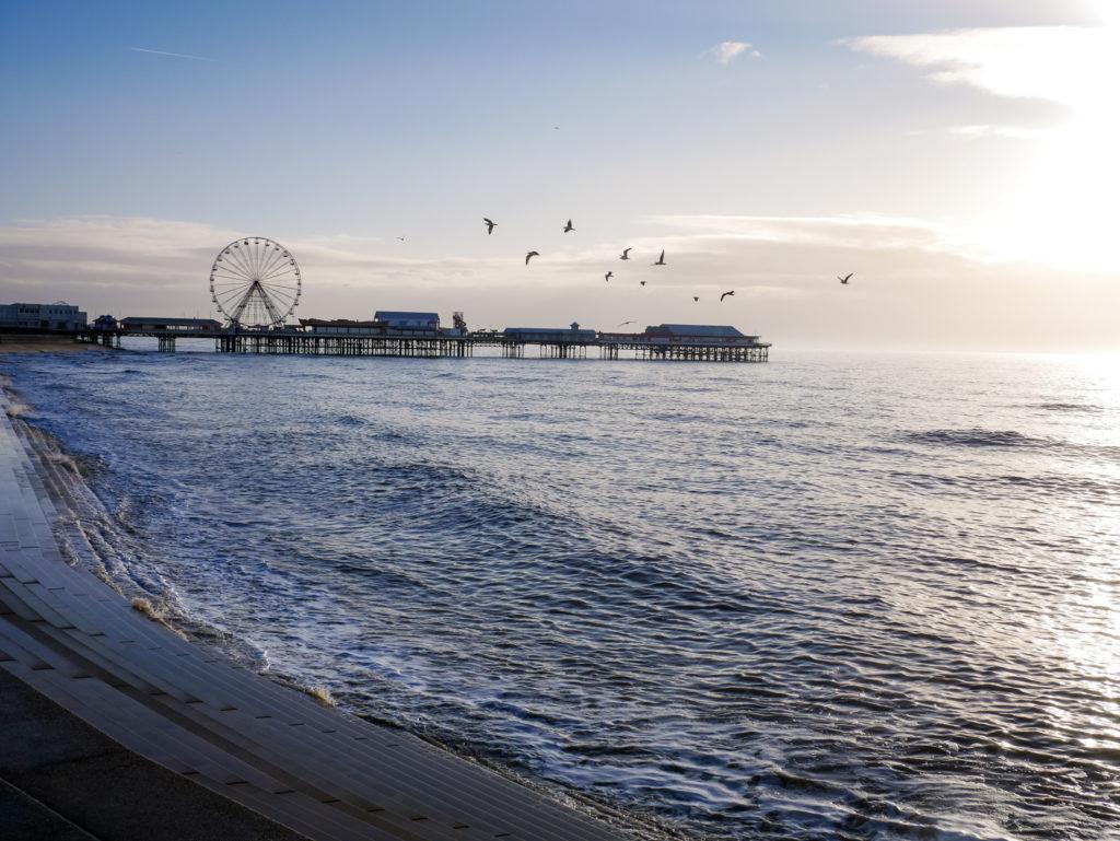 Was ich auch richtig toll fand ist, dass man in Blackpool einen Sonnenuntergang, in welchem die Sonne im Meer verschwindet, beobachten kann.