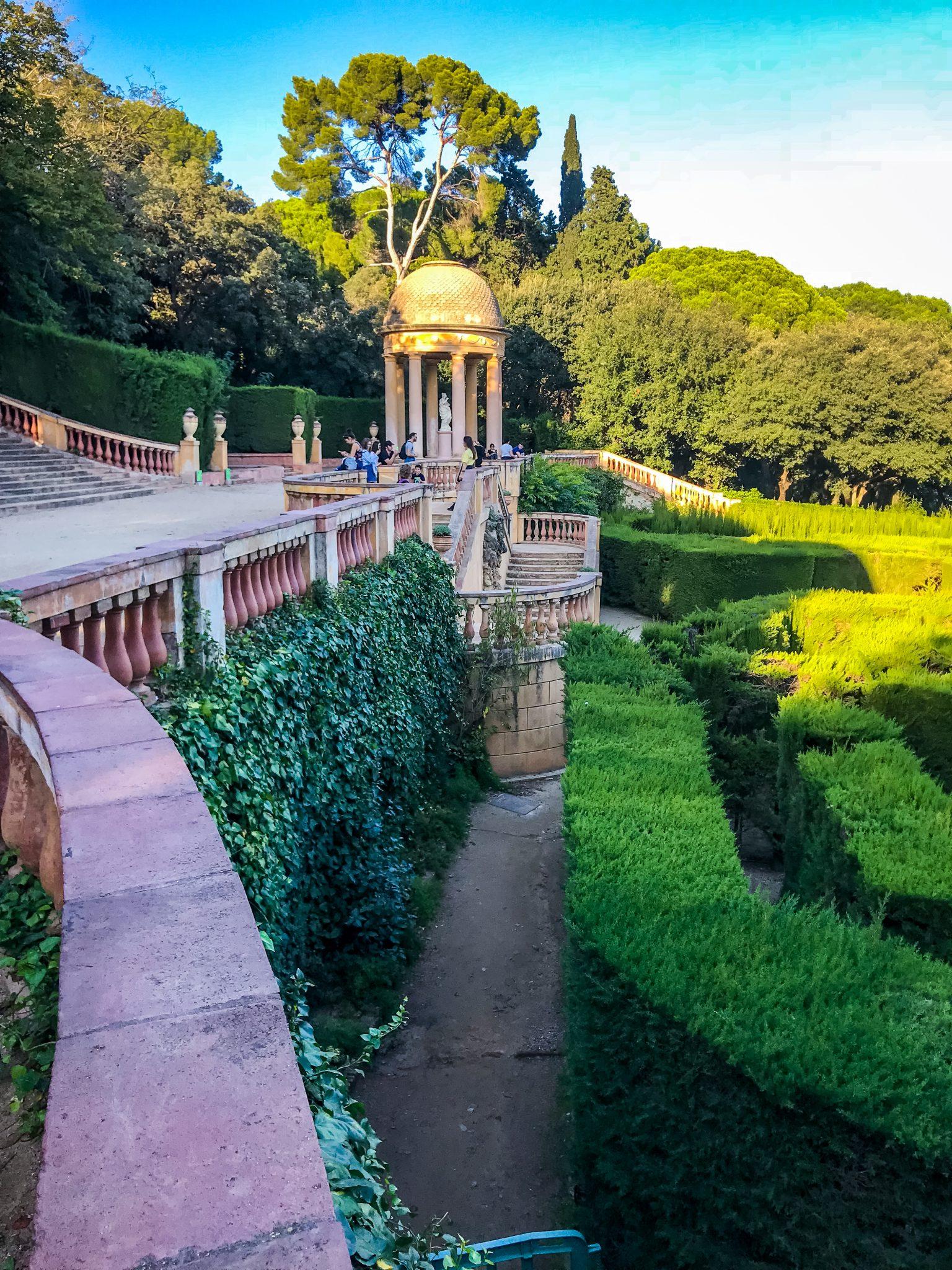 Das Labyrinth im Park Parc del Laberint d´Horta.