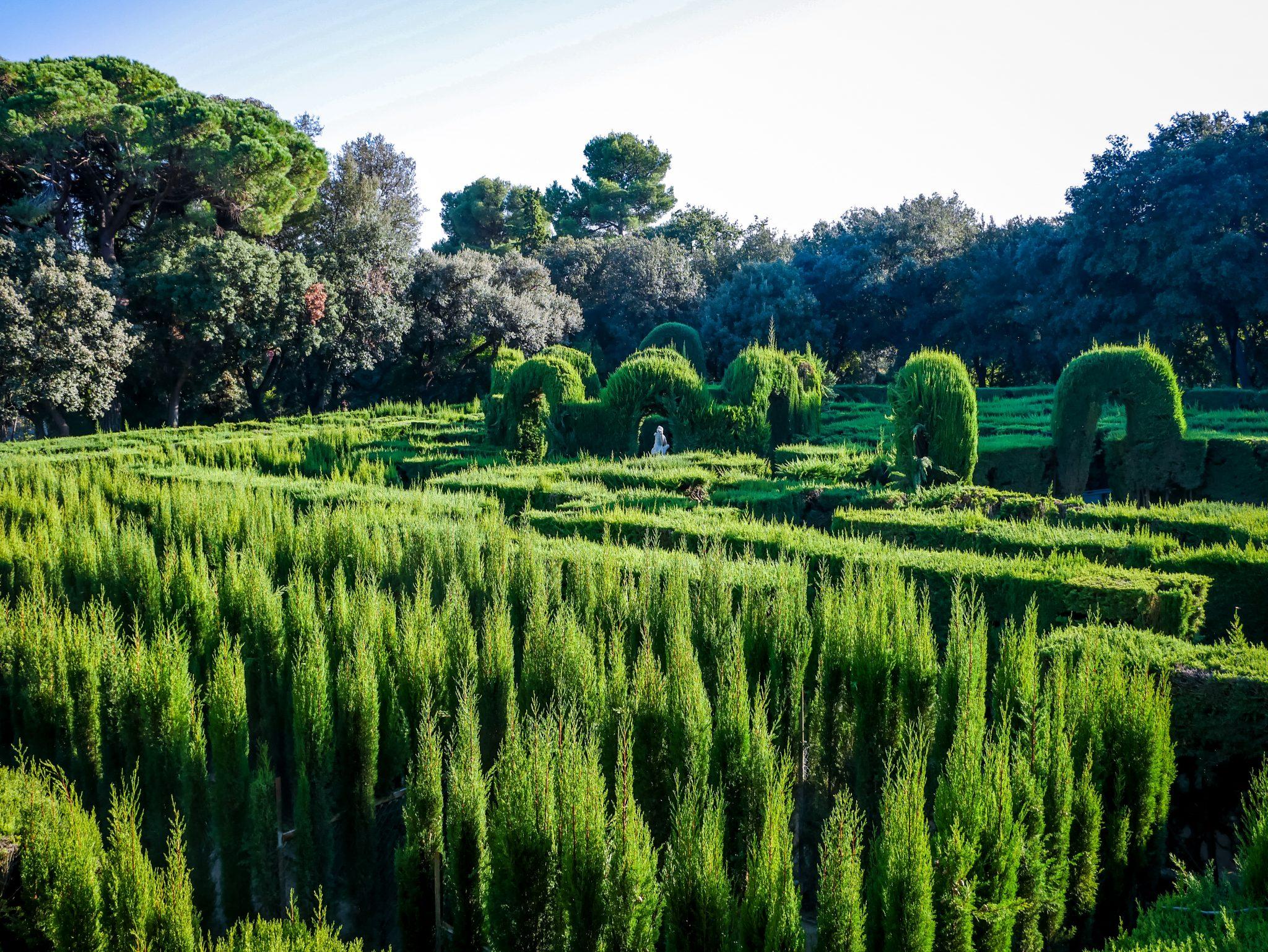 Das berühmte Labyrinth gibt dem Park seinen Namen (Parc del Laberint d´Horta Labyrinth)