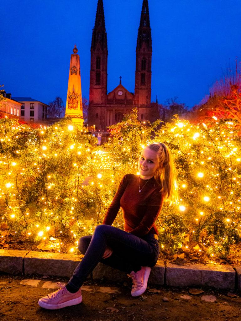 Der gesamte Luisenplatz ist wunderschön dekoriert und geschmückt.